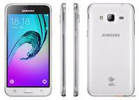 BRAND NEW SAMSUNG GALAXY J3 6 8GB DUAL SIM 4G LTE SMARTPHONE WHITE UNLOCK 2016