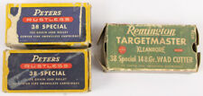 Lot of 3 Vintage Peters & Remington Empty Ammo Cartridge Boxes