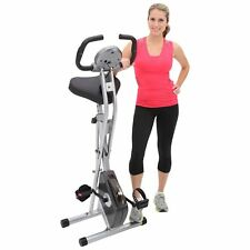 Folding Magnetic Upright Bike Hand Pulse Cardio Monitor Workout Fitness Machine