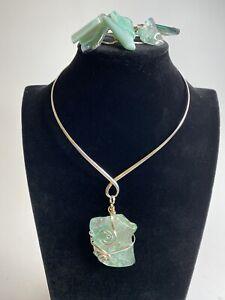 Sea Glass Artisans Neckless And Bracelet From Aruba