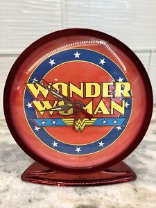 DC Comic Wonder Woman Red Wind-up Clock -READ!