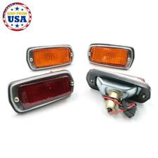 NEW SIDE MARKER LAMPS RED & AMBER 2 SETS FIT DATSUN 510 B210 120Y 240Z '68-'78