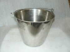 Vollrath 58130 12.5 Qt. Stainless Steel Pail/Bucket Used