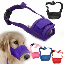 Small Large Dogs Muzzle Anti Stop Bite Barking Chewing Mesh Mask Training Usa