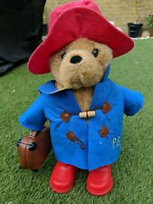 PADDINGTON BEAR OFFICIAL CUDDLY TOY (2015). WITH SUITCASE, SUPER CUTE!