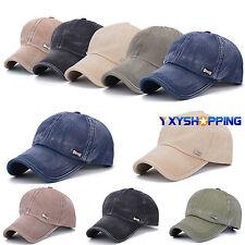 Mens Womens Outdoors Polo Cap Baseball Strap Sun Military Plain Adjustable Hat