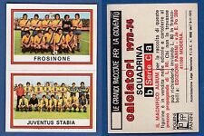 FIGURINA CALCIATORI PANINI 1973/74 - NUOVA/NEW N.594 FROSINONE/JUVE STABIA