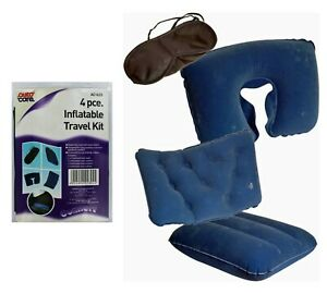 Autocare Inflatable Travel Comfort Kit 4 Piece Cushions Car Camping Caravan