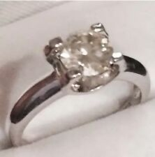 1 CT Moissanite Stone Champagne Color Sterling Silver Ring
