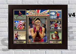 Emma Raducanu Tennis US Open A4/A3 print/framed Memorabilia/gift signed #166