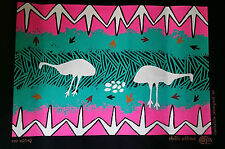 stoffdruck dickes deko tuch Aborigines Australien Malerei 40x50cm  EMU