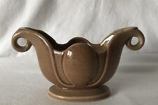 Vintage Brown WADE Posy Vase Two Handled Home Decor English Ceramic Porcelain