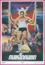 Hercules in New York (1970) Thai Movie Poster Schwarzenegger Original