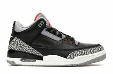 Nike Air Jordan 3 III Retro OG Black Cement Red Grey Size 10.5 US 854262-001