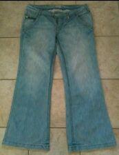 neuwertige Jeans Hüfthose (weites ausgestelltes Bein) Gr.40/42 von Broadway