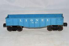 Vintage Lionel 6142 Train Car Blue Gondola O Scale