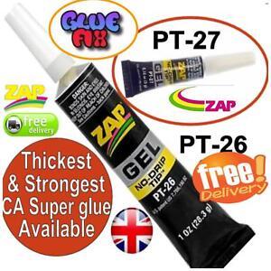 Zap Super Glue Models Jewellery Diy Thickest & Strongest CA Super glue PT26 PT27