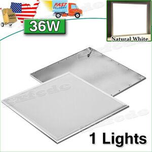 1Pack 2x2 Ft LED Panel Light Drop Ceiling Flat 4000K Recessed Troffer Fixture