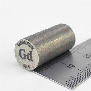 Gadolinium Metal Rod 99.9% 10diameter x20mm length 12.4grams Element Gd Specimen