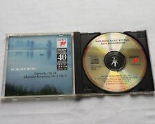 Rudolf SERKIN/SCHOENBERG Serenade #24-Symph.#1,Op.9 CD Marlboro Festival SONY