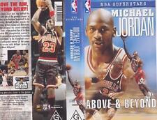 BASKETBALL ~ MICHAEL JORDAN ABOVE AND BEYOND  VHS PAL VIDEO