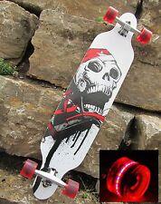 Longboard 41 Totenkopf & 4 LED ROLLEN GRATIS DAZU..  Surfboard Board 43069-LED