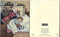 1 CHRISTMAS SANTA KITTEN CAT KING CHARLES CAVALIER DOG 1 PINK PEACH ROSES CARD
