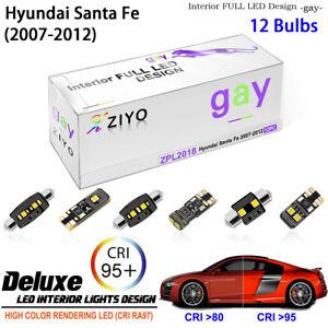 LED Light Bulbs White Interior Dome Light Kit For 2007-2012 Hyundai Santa Fe