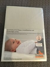 Pinolino Jersey Fitted Sheet Tutti Bambini CoZee bedside crib/cradle grey/beige