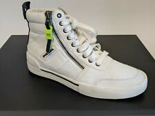 Diesel S-DVELOWS HIGH TOP PANELLED SUEDE ZIPPER SNEAKERS Size 8.5