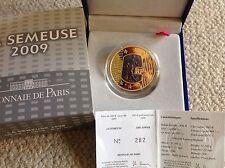 200 € FRANKREICH 2009 Säerin Menschenrechte 1 oz Gold Schwarzgold in PP RAR !!!