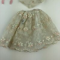 """Vintage 1959 Barbie """"Floral Petticoat"""" #921 in Good Condition W Mirror Brush"""