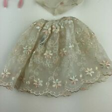 "Vintage 1959 Barbie ""Floral Petticoat"" #921 in Good Condition W Mirror Brush"