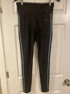 Women's adidas 3-Stripe High-Waisted Leggings M Black