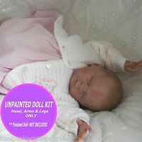 "REBORN KIT ~ Soft Vinyl doll kit to make your own baby~ unpainted Faith kit 18"""