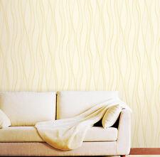 Tapete selbstklebend Wellen Glitter Seideneffekt cremegold abwischbar 50x100cm