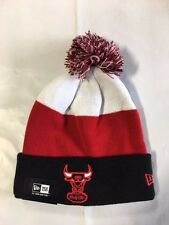 Chicago Bulls Knit Beanie Toque Skull Cap Winter Hat NEW Windy City Cuffed Pom