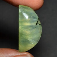 Cts. 26.25 Natural Prehnite cabochon Pear Shape Cab loose Gemstones