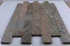 Split Face copper quartzite metalic stone  Strips 600 x 60 ( sample )