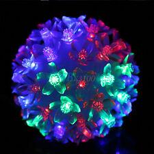 Colorful 50LED Flower Ball Fairy Light Lamp Christmas Xmas Wedding Party Decor