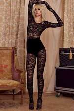 Love Courtney by Nasty Gal Hard Rock Unitard Lace Bodystocking Catsuit Small Blk