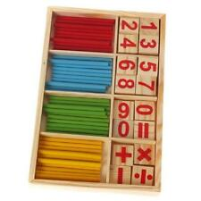 Baby Kids Montessori Wooden Math Number Sticks Puzzle Early Educational Toy LH