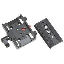 Video Quick Release Adapter with Plate compatible with Manfrotto 3433PL 577