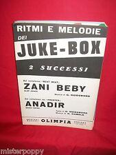 I BEAT BEAT Zani beby + I FRANTES Anadir 1967 Spartiti BEAT Ed OLIMPIA
