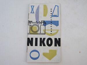 "Nikon RF rangefinder S instructions in  English ""LQQK"" US SELLER"