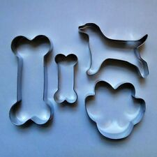 2 Size Dog bone Dog Paw Baking Biscuit Cookie Cutter Stainless Steel 4 pc set