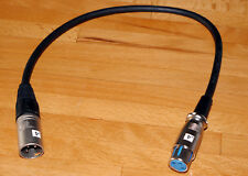 CABLE XLR COURT POUR RELIER MICRO MICROPHONE A CAMERA/CAMESCOPE - 40 CM NEUF