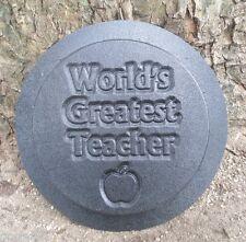 Teacher plaque plastic garden casting plaque mold
