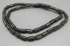 Vintage Ethnic Tribal Black Chevron Glass Trade Beads Necklace GL170
