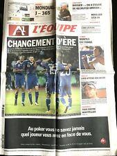 L'Equipe Journal 9/09/2010; Bosnie-France 0-2/ Monfils est tombé/ Loeb/ Drogba